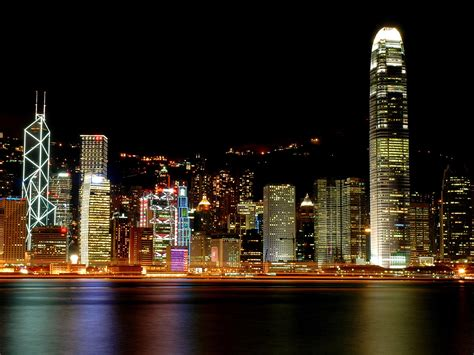 Outdoor Lighting Hong Kong 1600x1200 Hong Kong Lights Desktop Pc And Mac Wallpaper