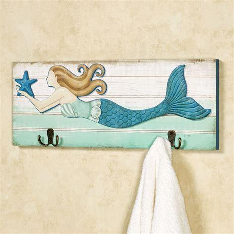 Wall Plaque Hooks Mermaid Wall Hook Plaque