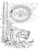 coloring page of templeton the rat charlottes web templeton coloring page coloring pages