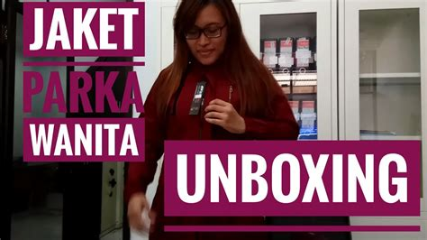 Jaket Resleting Unboxing Jaket Parka Wanita Blessher Resleting Vertical