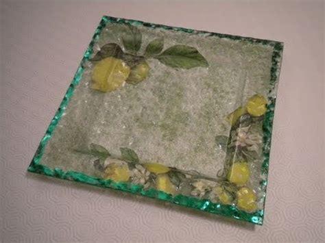 tutorial decoupage su damigiane di vetro tutorial decoupage su piatto in vetro con vetrificazione