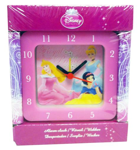 disney princess pink alarm clock analogue cinderella snow white sleeping ebay
