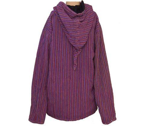 Fleece Lined Striped Shirt fleece lined stripy hooded jacket