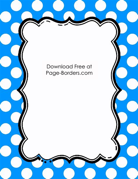 free polka dot border templates in 16 colors