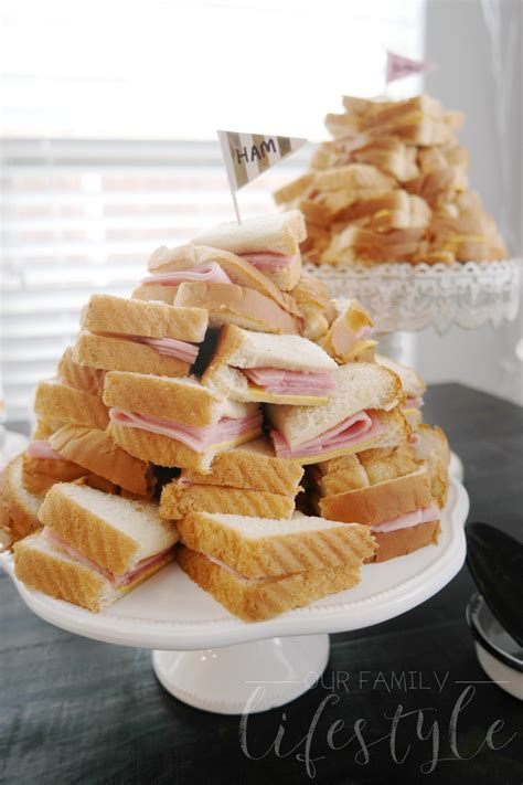 Tea Sandwiches For Baby Shower by Baby Shower Ideas Printables And Food