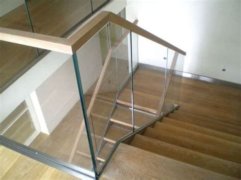 Wood And Glass Banister by Glass Railings With Wood Search Staircases