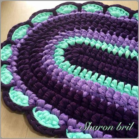 crochet floor mat 705 best images about alfombras de trapillo on