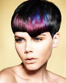 Short hair with color ideas as women hairstyle more fashionable