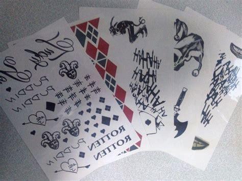 joker tattoo transfers new movie suicide squad harley quinn joker tattoo sticker