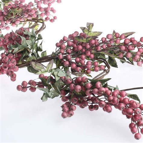 artificial hypericum berry garland pip berries floral