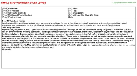 Safety Engineer Cover Letter by Process Safety Engineer Cover Letters