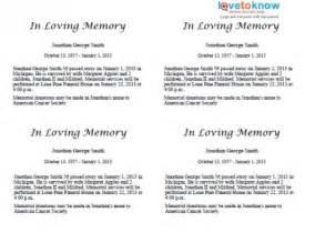 obit template free obituary template cyberuse