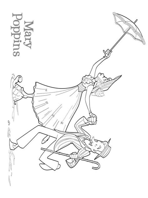 Poppins Coloring Pages Mary Poppins Coloring Pages Free Printable Mary Poppins by Poppins Coloring Pages