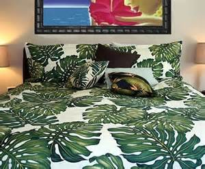 Tropical Duvet Covers King Tropical Leaf Bedding Set Home Pinterest Tropical