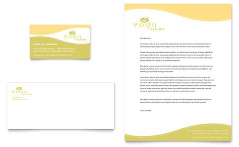 yoga instructor studio business card letterhead