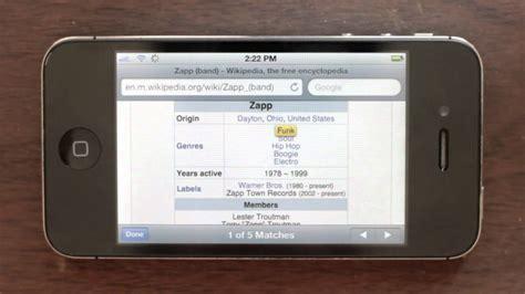 ctrl  find  safari iphone zap tutorial youtube