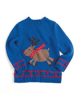 knitting pattern christmas jumper free ravelry reindeer child pattern by sue stratford