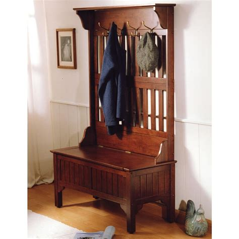 hall coat tree bench home styles hall coat tree storage bench 117954