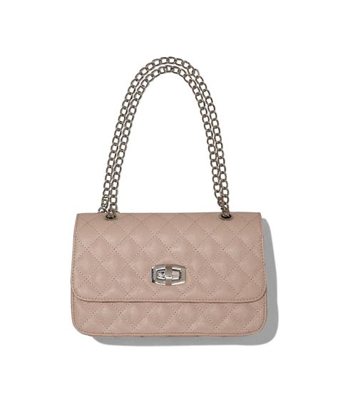 Quilted Bag With Chain by Express Quilted Chain Shoulder Bag In Beige