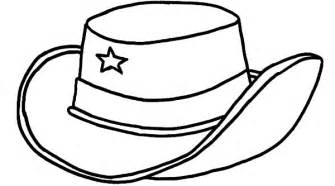 hat coloring cowboy hat coloring page barriee