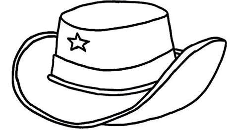 Cowboy Hat Coloring Page Barriee Hat To Color