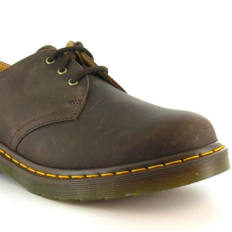 dr martens 1461 mens leather 3 eyelet shoes gaucho brown