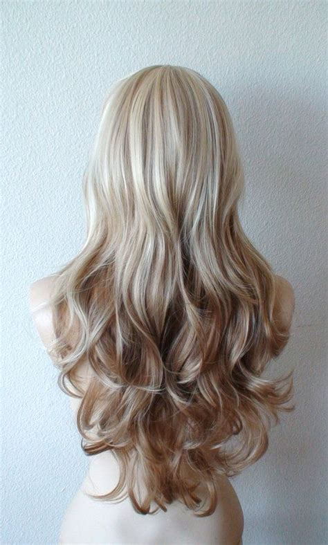 light brown and platinum blonde ombre hair summer special platinum blonde brown ombre wig
