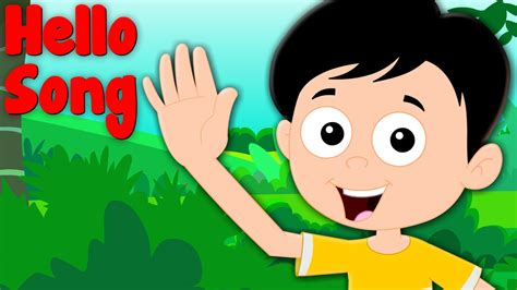 greeting song hello song songs and children rhymes for babies