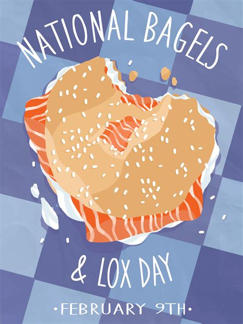Textile Design by National Bagel Amp Lox Day Illustration By Niki Sauter