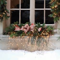 Christmas Decoration Window - estate pre lit window christmas swag christmas decor traditional holiday lighting by frontgate