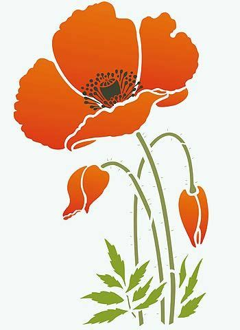 printable poppy stencils 48 best images about stencils on pinterest turkish tiles