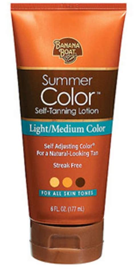 banana boat tanning lotion banana boat summer color self tanning lotion medium or