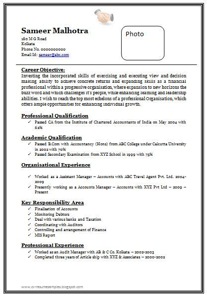 Best Resume Sles For Chartered Accountants 25 Unique Best Resume Format Ideas On Best Cv Formats Resume Format For And Cv
