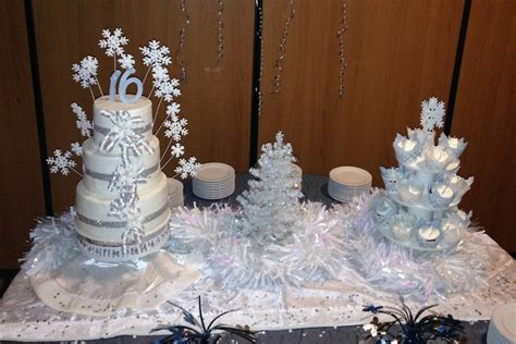 winter decorations sweet 16 sweet 16 winter cakecentral