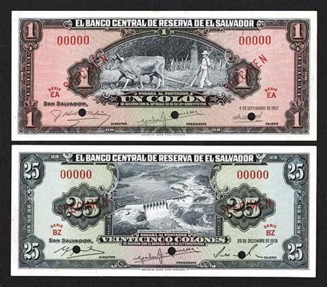 banco central de reserva de el salvador banco central de reserva de el salvador 1957 1958 issues
