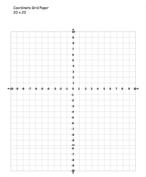 Coordinate Grid Template by Printable Grid Paper Template 12 Free Pdf Documents