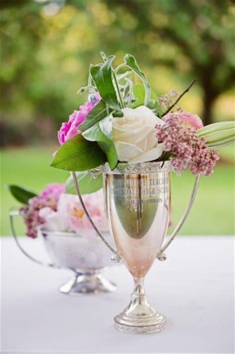 Trophy Decorations by Decorating With Vintage Trophy Cups Driven By Decor