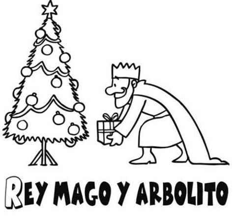 arbol navidad dibujo infanti dibujo de 225 rbol de navidad y mago para ni 241 os