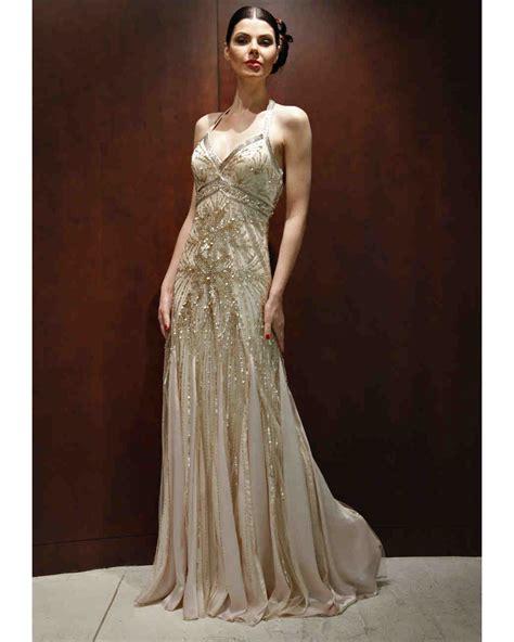 gold beaded wedding dress gold wedding dresses fall 2012 bridal fashion week