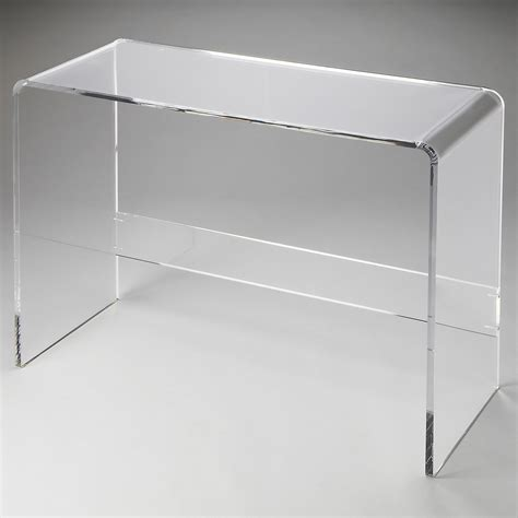 Plastic Console Table Acrylic Console Table Modern Acrylic Console Table Kathy Kuo Home Lucite Waterfall Console