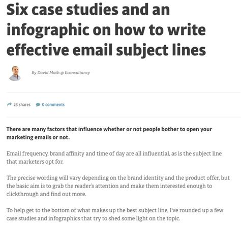 Subject How To Write Effective Subject Lines | 8 case studies on how to create winning email subject lines
