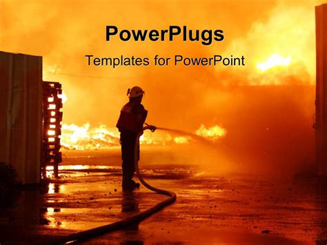 powerpoint themes free download fire powerpoint template firefighters in work with