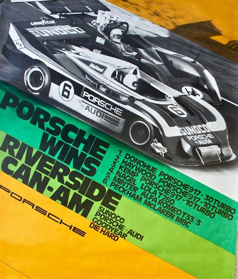 porsche factory porsche factory poster porsche wins riverside can am