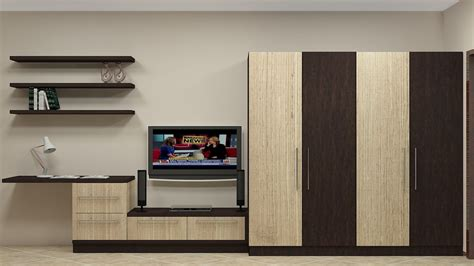 modular wardrobe furniture india modular wardrobe design for indian bedroom 4 door along with tv unit study unit wall