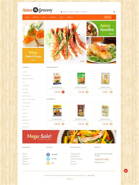 themes for grocery store asian grocery store woocommerce theme 52448