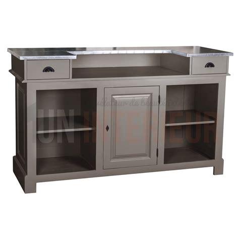 comptoir des meubles comptoir de bar 150cm plateau zinc ou pin