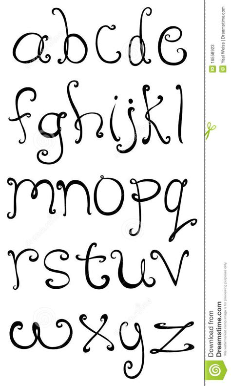 tattoo kleine letters decoratieve kleine letters vector illustratie afbeelding