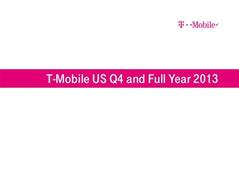 T Mobile Us Q4 2013 Slide Presentation T Mobile Powerpoint Template