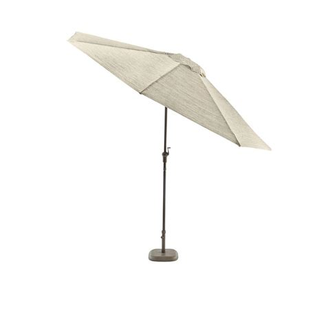 Crank And Tilt Patio Umbrella Hton Bay Statesville 9 Ft Steel Crank And Tilt Patio Umbrella In Gray Yjauc