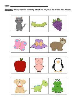 Initial Phoneme Worksheets